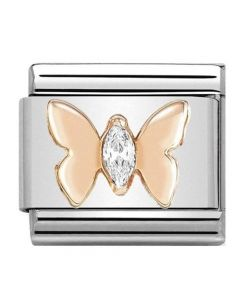 Nomination CLASSIC Rose Gold Butterfly With Stones Charm 430305/19