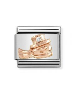 Nomination CLASSIC Rose Gold Snowman with Cubic Zirconia Charm 430305/20