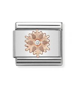 Nomination CLASSIC Rose Gold Snowflake with Cubic Zirconia Charm 430305/23