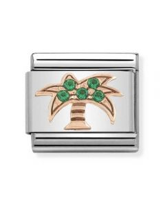 Nomination CLASSIC Rose Gold Symbols Green Cubic Zirconia Palm Tree Charm 430302/28