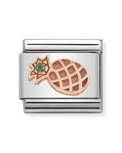 Nomination CLASSIC Rose Gold Symbols Green Cubic Zirconia Pineapple Charm 430305/30