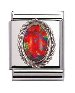 Nomination BIG Silvershine Ornate Red Opal Charm 032510/08