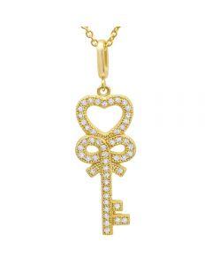 Crislu 'Keys to the Kingdom' Necklace 3010444N16CZ