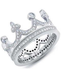 Crislu 'Keys to the Kingdom' Crown Ring 9010450R70CZ