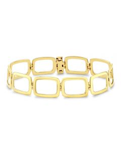 9ct Gold Open Oblong Link 7.5 Inch Bracelet 1.28.2582