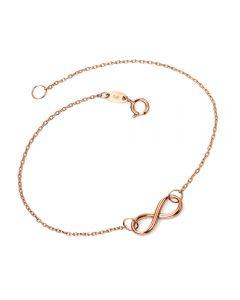 "9ct Rose Gold Infinity 7.25"" Bracelet GB417"