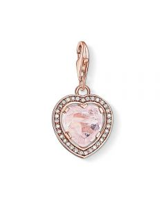 Thomas Sabo Rose Gold Plated Cubic Zirconia Quartz Heart Charm 1105-537-9