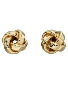 9ct Gold Knot Stud Earrings GE2201