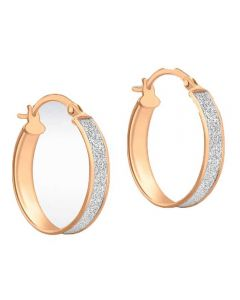 9ct Rose Gold 20x18mm Stardust Creole Earrings 5.51.1019