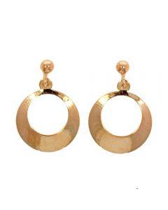 9ct Rose Gold Open Disc Dropper Earrings 10.12.008