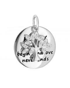 Sterling Silver Stone Set Family Tree Pendant 8.68.4239