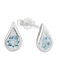 Topaz Set Silver Earrings