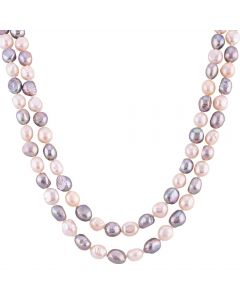 Grey Freshwater Pearl Necklace POW70132FW