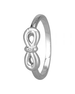 Petite Diamonds Silver Infinity Bow Ring DR346C(T)
