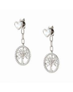 Nomination Vita Tree Of Life Sterling Silver Drop Earrings 148403/005