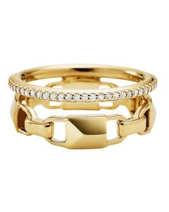 Michael Kors Mercer 14ct Gold Plated Double Row Ring MKC1025AN710