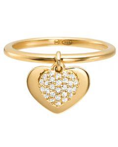 Michael Kors Kors Love 14ct Gold Plated Pavé Heart Drop Ring MKC1121AN710