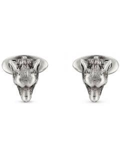 Gucci Anger Forest Silver Wolf Head Cufflinks YBE52407500100U