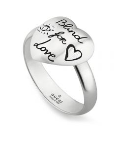 Gucci Blind 4 Love Silver Ring YBC499937001012