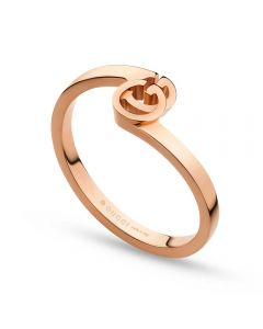 Gucci GG 18ct Rose Gold Crossover Ring YBC457122001014