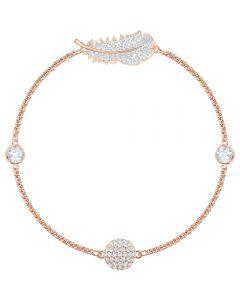 Swarovski Remix Feather Strand Rose Gold Tone Bracelet