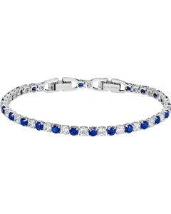 Swarovski Tennis Deluxe Blue and Clear Crystal Bracelet 5506253