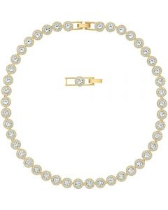 Swarovski Angelic White Crystal Pave Gold Tone Necklace 5505468