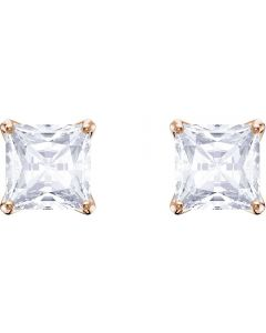 Swarovski Attract Rose Gold Tone Square Stud Earrings 5431895