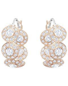 Swarovski Angelic Rose Gold Tone Crystal Hoop Earrings 5418271