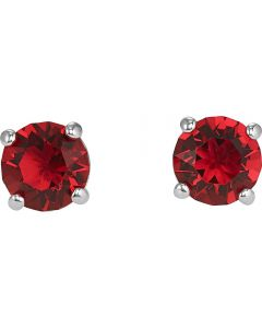 Swarovski Attract Red Crystal Round Stud Earrings 5493979