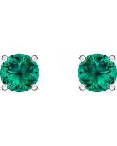 Swarovski Attract Green Crystal Round Stud Earrings 5512384