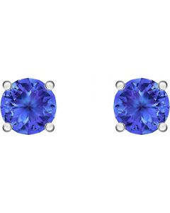 Swarovski Attract Blue Crystal Round Stud Earrings 5512385