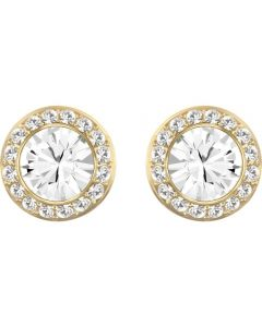 Swarovski Angelic White Crystal Pave Gold Tone Stud Earrings 5505470