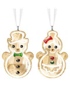 Swarovski Gingerbread Snowman Couple Figurine 5464885