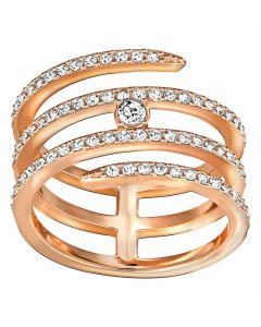 Swarovski Creativity Rose Gold Tone Coil Ring