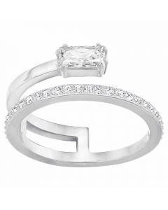 Swarovski Gray Clear Crystal Ring