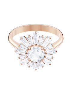 Swarovski Sunshine Rose Gold Tone White Crystal Ring 5474918