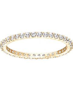 Swarovski Vittore White Crystal Gold Tone Ring