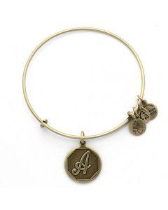 ALEX AND ANI Initial 'A' Charm Bangle A13EB14AG