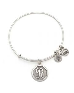 ALEX AND ANI Initial 'R' Charm Bangle A13EB14RS