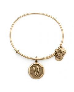 ALEX AND ANI Initial 'V' Charm Bangle A13EB14VG