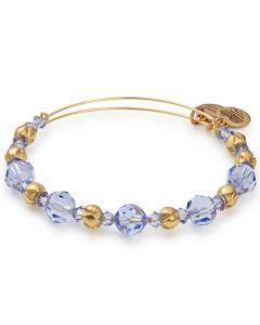 ALEX AND ANI Rain- Gold Finish and Blue Crystal Bangle A17EB14SG