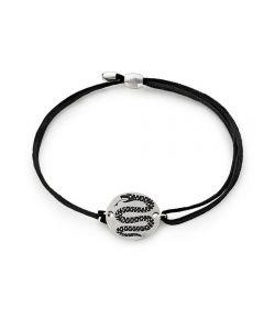 ALEX AND ANI Harry Potter Slytherin Black Cord Bracelet AS18HP05SS
