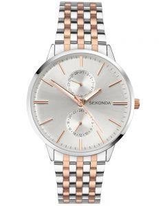 Sekonda Mens Rose Gold Plated Silver Watch 1589