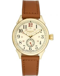 Minster 1949 Mens Boyland Tan Leather Strap Watch MN03GLGL10
