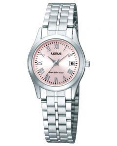 Lorus Ladies Stainless Steel Pink Sunray Dial Bracelet Watch RH731BX9