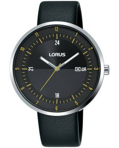 Lorus Dress Black Leather Strap Watch RH957LX9