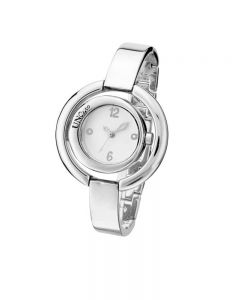 UNOde50 'Time's Up' White Dial Silver Plated Bracelet Watch REL0141BLNMTL0U