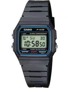 Casio CASIO Collection Men Digital Black Plastic Strap Watch F-91W-1XY