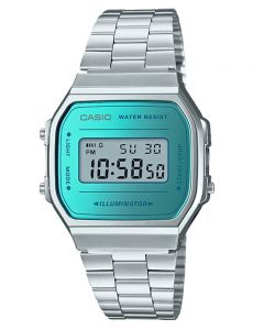 Casio CASIO Collection Retro Digital Steel Bracelet Watch A168WEM-2EF